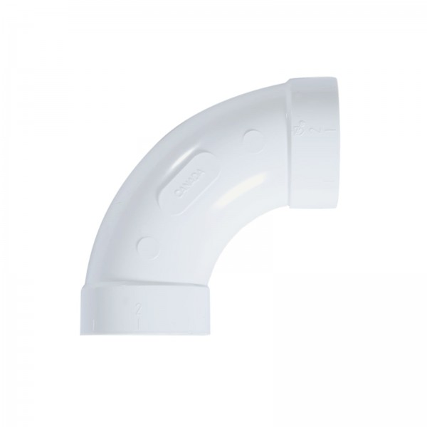 """Bogen 90° für 2"""" PVC-Vakuumrohrleitung"""